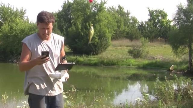 Может ли дрон поймать рыбу?