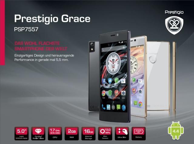 Обзор смартфона Prestigio Grace 7557