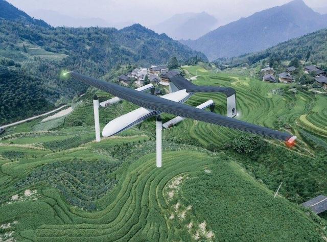Воднева енергетика дозволяє дронам-літакам вертикального зльоту і посадки знаходитись у повітрі 6 годин