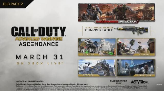 Дополнение Ascendance для Call of Duty: Advanced Warfare и новый патч уже доступны на Xbox One