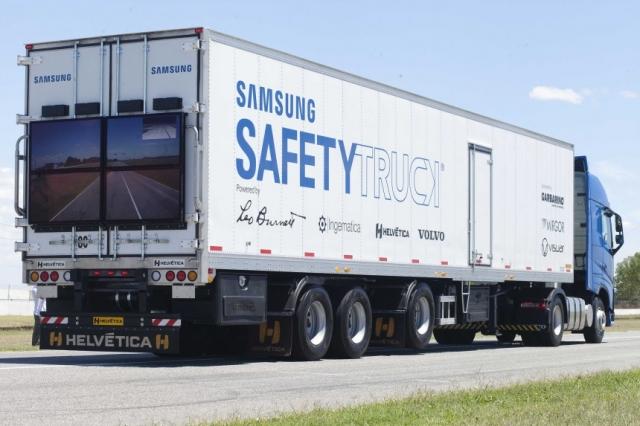 Концепция компании Samsung Safety Truck («Грузовик с безопасностью») начала тестирование в Аргентине