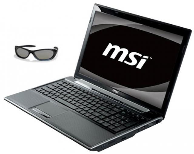 "Ноутбук MSI FR600 3D - 15,6"" для 3D"