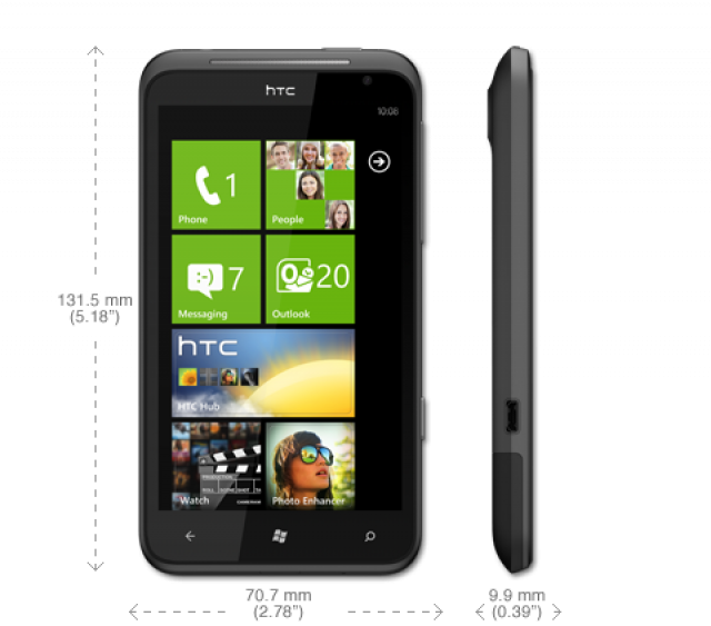 HTC TITAN - огромный смартфон на Windows Phone