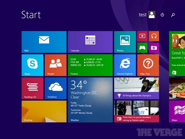 Microsoft завершила работу над первым обновлением Windows 8.1