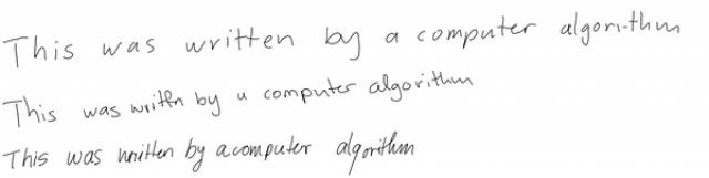 Компьютеры теперь могут воспроизводить почерк человека