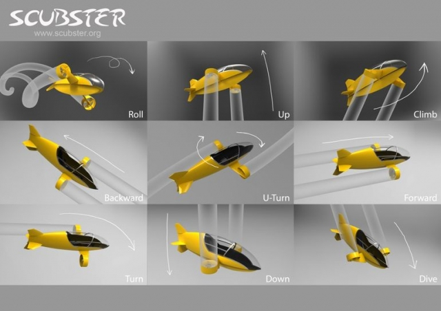 Электрический подводный скутер Scubster
