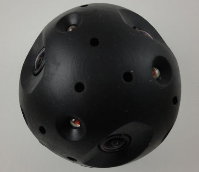 Сферическая, метательная камера-мяч для полиции