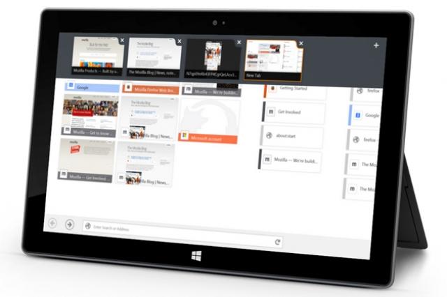 Firefox beta: дружелюбный сенсорный интерфейс на Windows 8