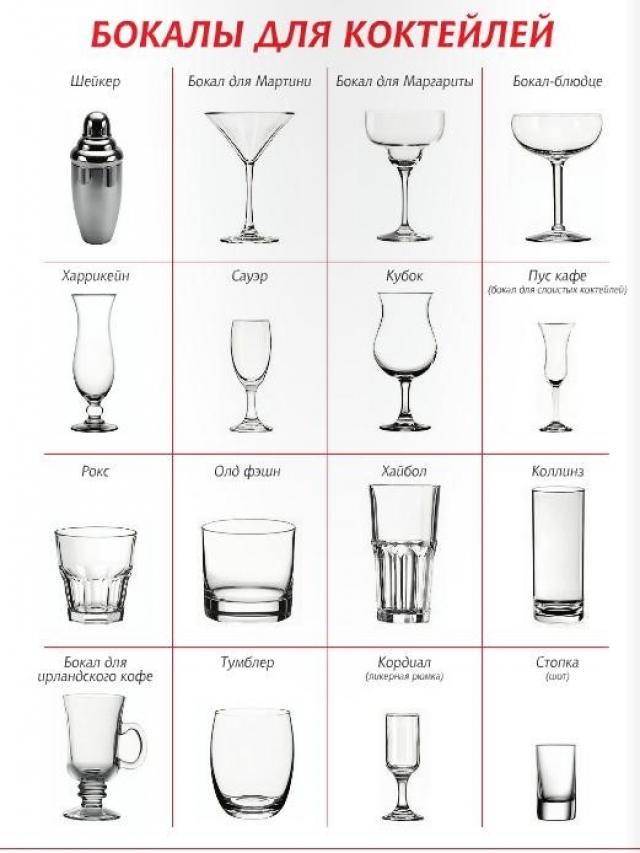 Из каких бокалов пьют мартини