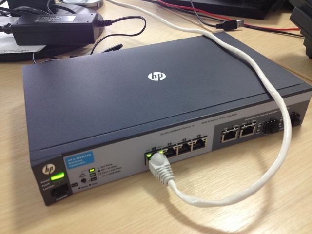 Настройка контроллера точек доступа НР MSM720