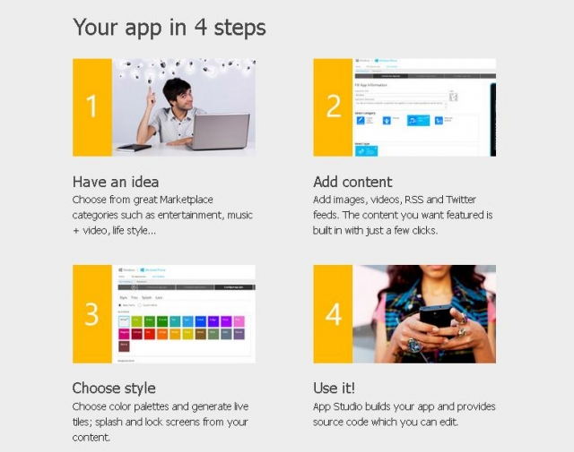 Microsoft запустила Windows Phone App Studio