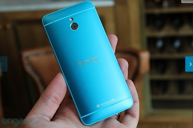 "Красавчик HTC One и HTC One mini в цвете ""vivid blue"""