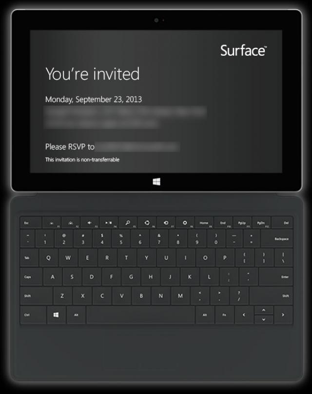 23 сентября: Microsoft презентует Surface 2?