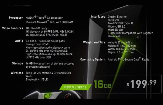 Игровая консоль NVIDIA Shield на 500 ГБ будет стоить 0