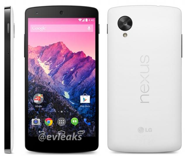 Рендер белого Nexus 5 попал в сеть + новая дата презентации