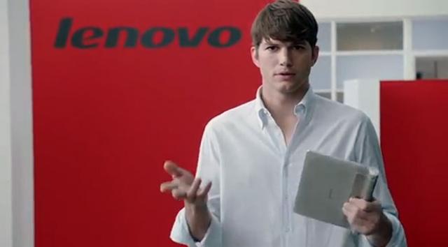 Эштон Катчер - новый сотрудник компании Lenovo