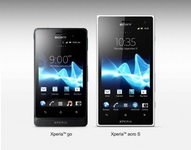 Sony Xperia go и Xperis acro S –стильные, прочные и водонепроницаемые