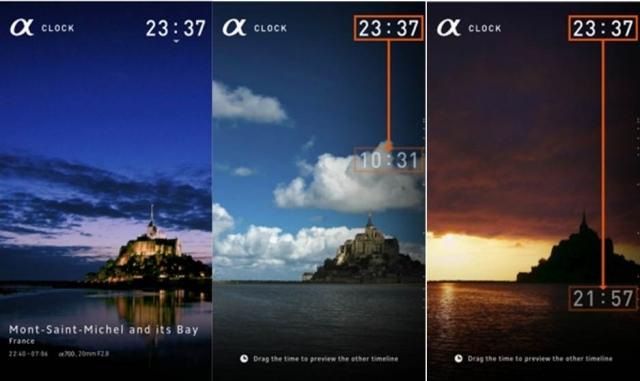 "Sony представила бесплатное приложение ""α"" CLOCK  для Android устройств."
