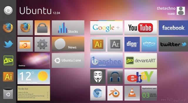 Фото Ubuntu с интерфейсом Windows 8 Metro выглядят отлично