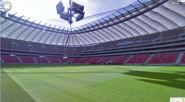 Любуемся стадионами Евро 2012 на Google Maps