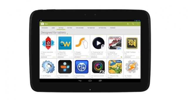 «Сделано для планшетов»: открывается новый раздел Google Play Store