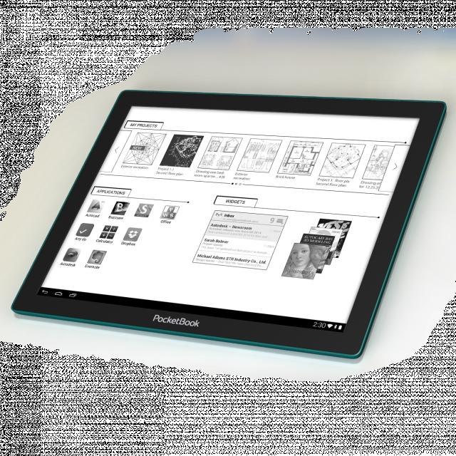 E Ink представляет революционный EPD дисплей Fina™, впервые установленный в PocketBook CAD Reader