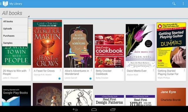 Google Play Books позволят скачать книги с любого Android-девайса