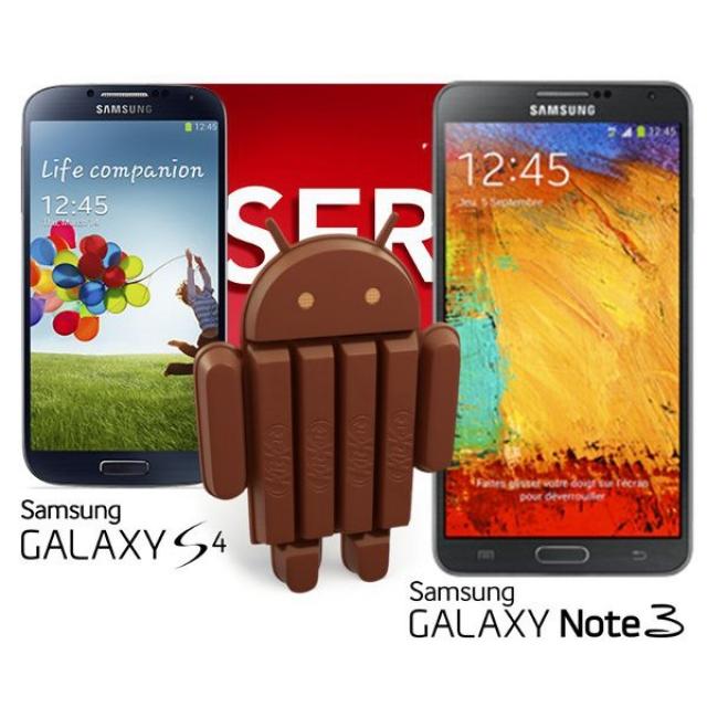 Известно когда Galaxy S4 и Note 3 получат Android 4.4 KitKat
