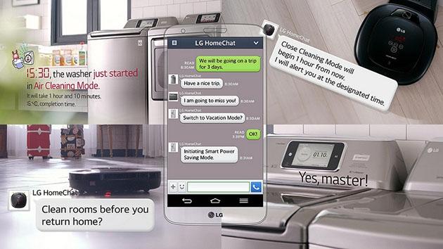 LG HomeChat позволит командовать бытовой техникой с помощью SMS