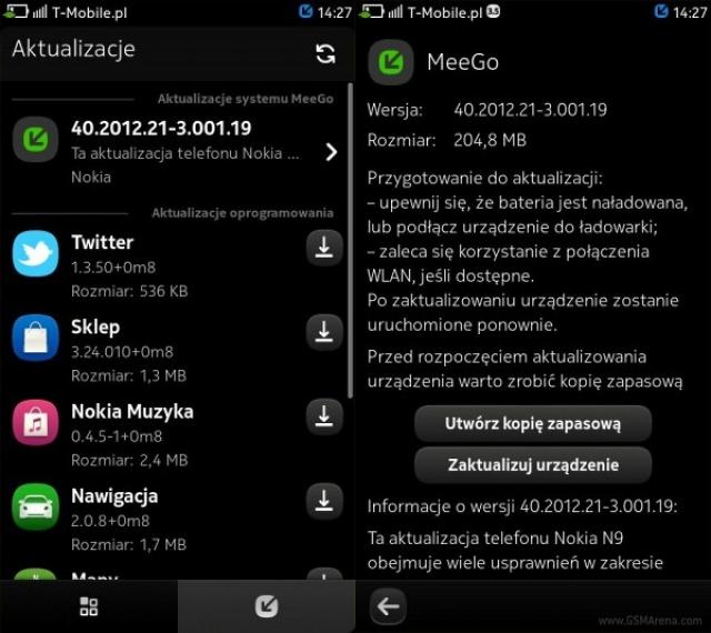 Nokia N9 - обновление прошивки до PR1.3 стало доступно в некоторых регионах