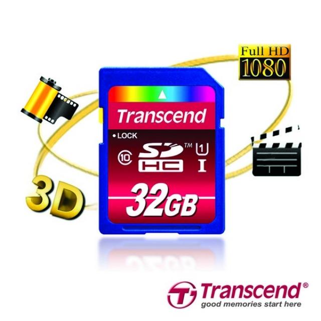 Transcend SDHC Class 10 UHS-I: 32 Гб профессиональных фотографий и видеозаписей