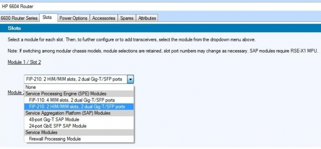 Конфигуратор сетевого оборудования от HP Networking