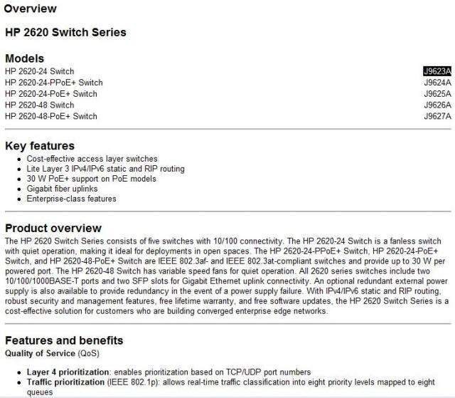 Программа-ресурс описаний оборудования HP – Product Bulletin