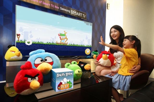 Angry Birds доступна на Samsung Smart TV, ведем войну с помощью жестов