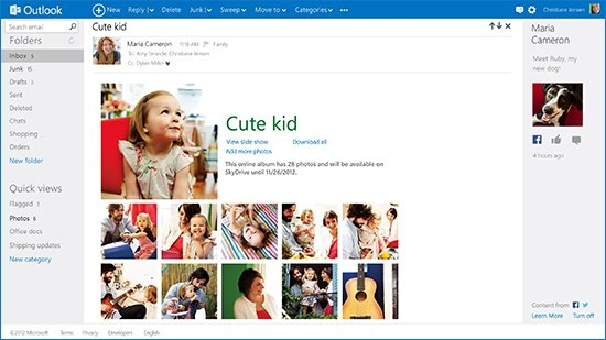 Запуск нового почтового сервиса Microsoft Outlook