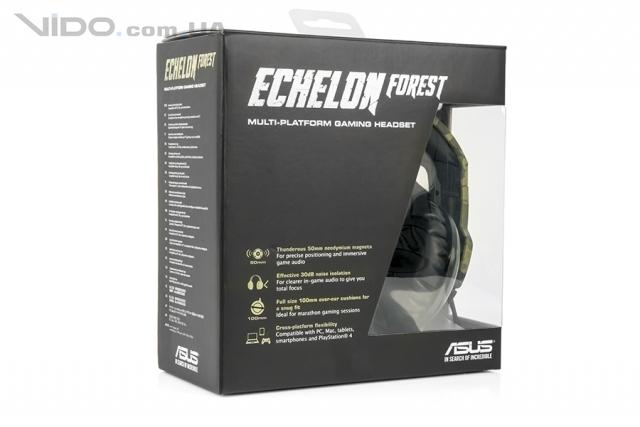 Обзор игровой гарнитуры ASUS Echelon Forest: в стиле милитари