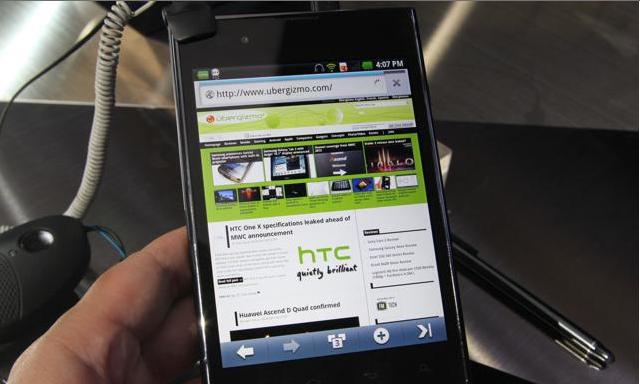 LG Optimus Vu получит четырехъядерный Tegra 3