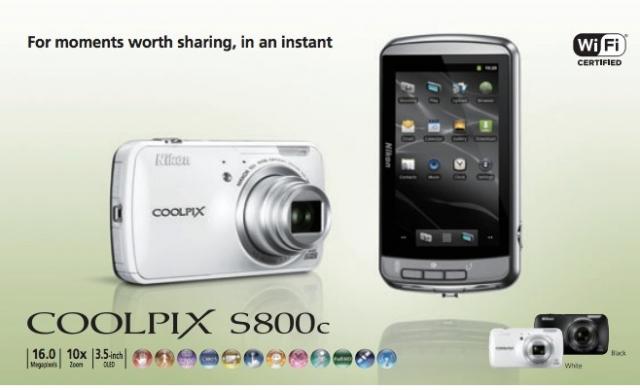 Nikon представила Android камеру Coolpix S800c