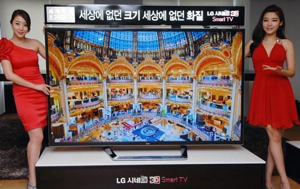 LG Electronics представляет первый в мире 84-дюймовый CINEMA 3D UD телевизор