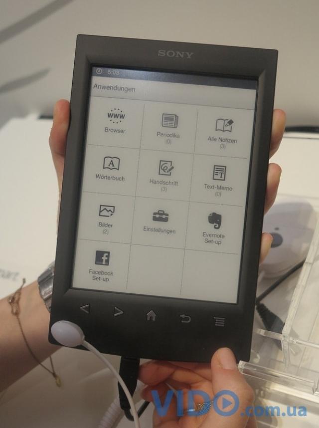Репортаж IFA 2012: 6-дюймовый ридер Sony Reader PRS-T2. Два месяца без подзарядки!