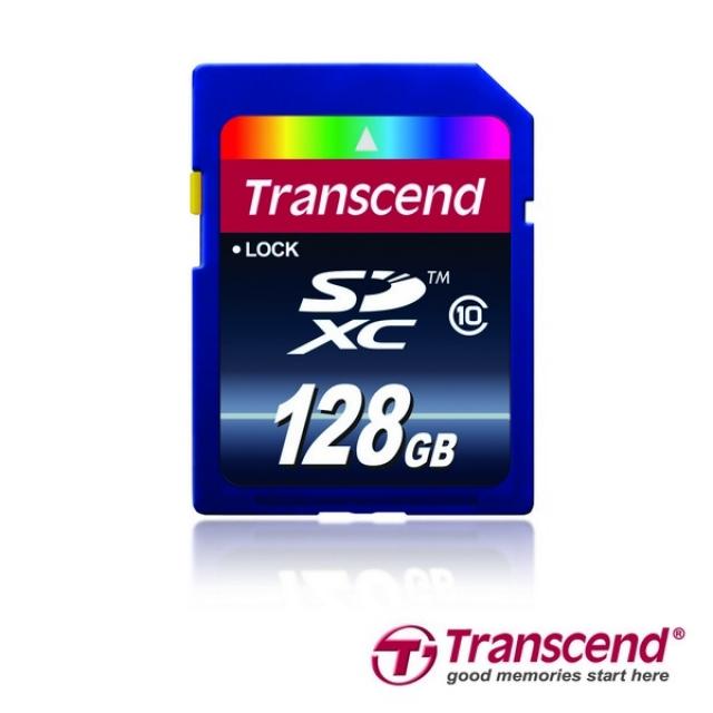Карта памяти Transcend SDXC Class 10 на 128 Гб