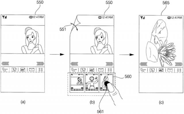 LG патентует пользовательский интерфейс для гибких экранов