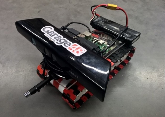 Pi Tank – робот, напечатанный на 3D принтере с платой Raspberry Pi (видео)