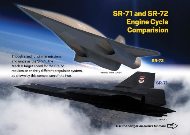 SR-72 от Lockheed, гиперзвуковой самолет-разведчик, развивающий скорость 6 Маха или 7350 км/ч