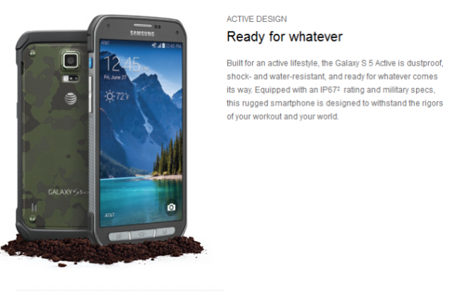 Samsung Galaxy S5 Active поступил в продажу