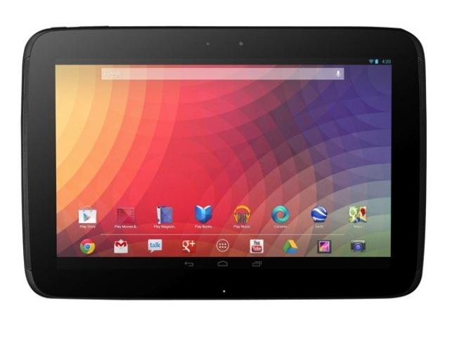 Разрешение дисплея планшета Nexus 10 составит 2560х1600
