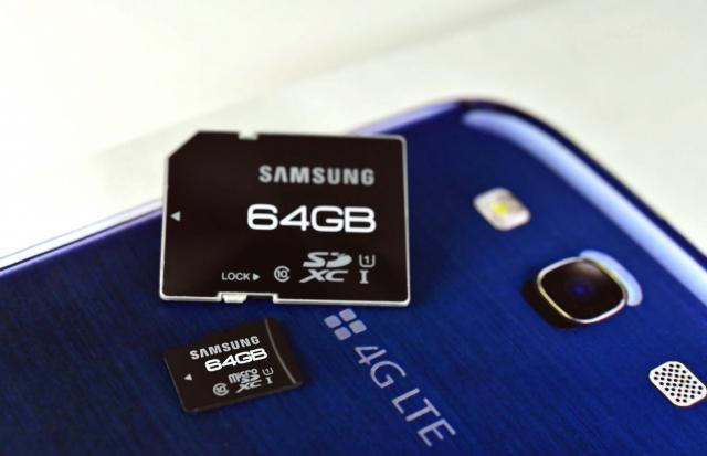 Samsung запускает 64-гигабайтные карты памяти для смартфонов