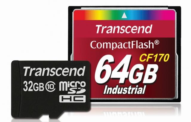 Новые индустриальные модели Transcend microSDHC  и CompactFlash высокой ёмкости