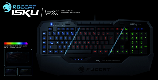 16,8 млн. цветов в клавиатуре Isku FX от ROCCAT