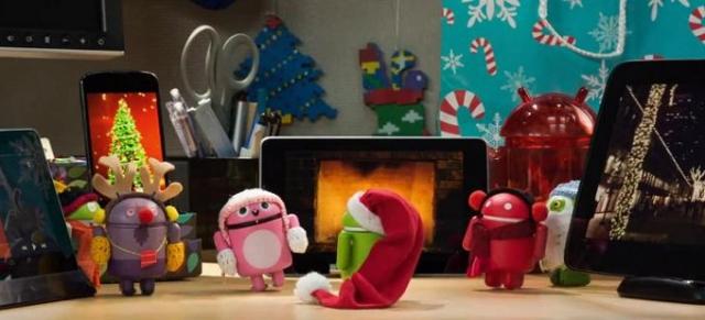 Android поздравляет с новогодними праздниками!